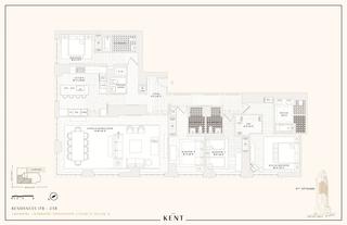 200 East 95th Street four-bedroom floor plan