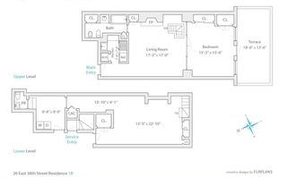 26 East 38th Street #1R floor plan
