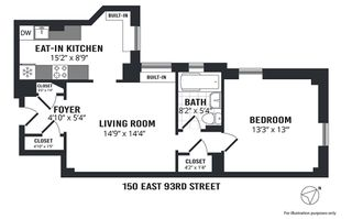 150 East 93rd Street #10D floor plan