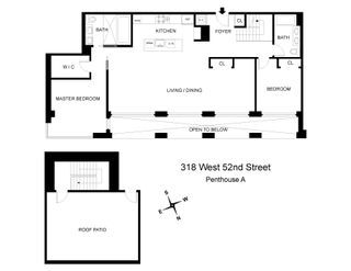 318 West 52nd Street penthouse floor plan