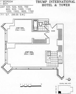 1 Central Park West #722 floor plan