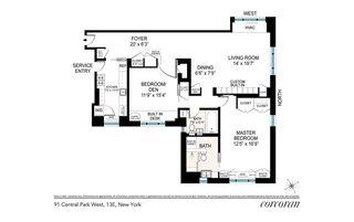 91 Central Park West #13E floor plan