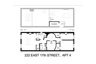 222 East 17th Street #PH floor plan