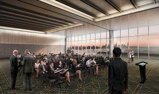 Javits Center interior rendering