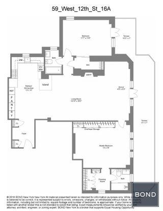 59 West 12th Street #16A floor plan