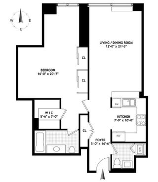 220 Riverside Boulevard #14A floor plan