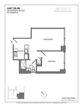 42-50 27th Street one-bedroom floor plan