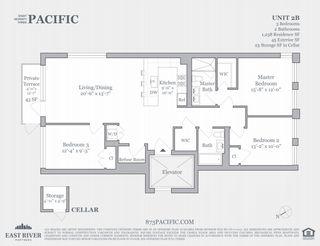 873 Pacific Street #2B floor plan