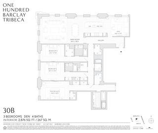 100 Barclay Street #30B floor plan