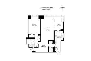 425 East 58th Street #47F floor plan