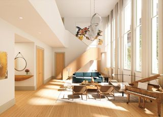 100 Amity Street interiors
