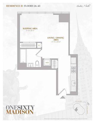 160 Madison Avenue #37H floor plan