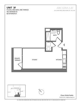 24-12 42nd Road studio floor plan