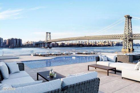 420 Kent rooftop pool rendering