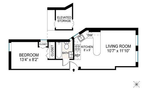 225 East 4th Street #1 floor plan