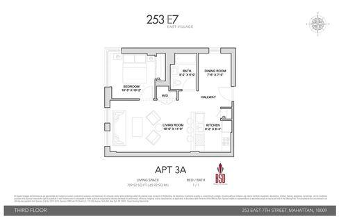 253 East 7th Street #3A floor plan