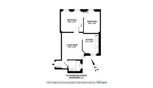 175 Rivington Street #4E floor plan