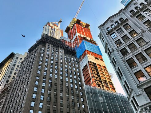 221 West 57th Street construction progress