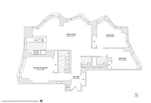 8 Spruce Street #47B floor plan