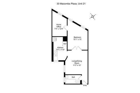 30 Macombs Place #21 floor plan
