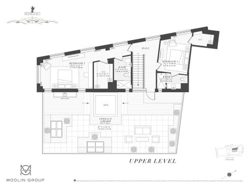 100 Barclay Street #PENTHOUSE floor plan