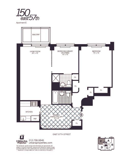 150 East 57th Street #26E floor plan