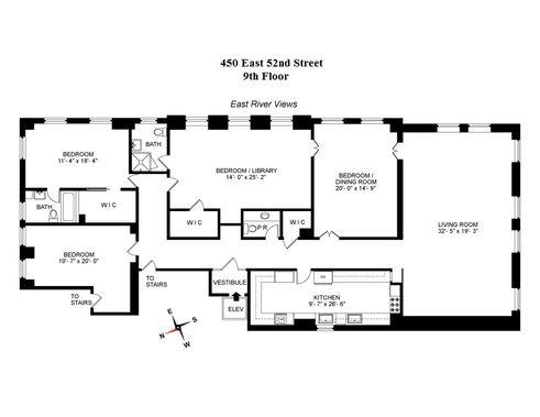 450 East 52nd Street #9THFLOOR floor plan