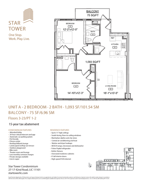 Star Tower, Apartment #22F