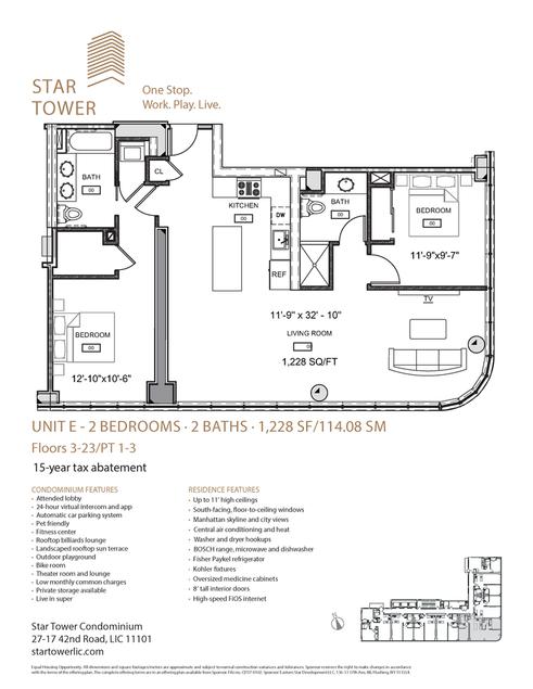 Star Tower, Apartment #11E