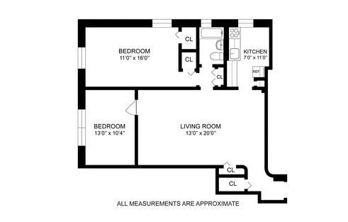 60 East 9th Street #218 floor plan