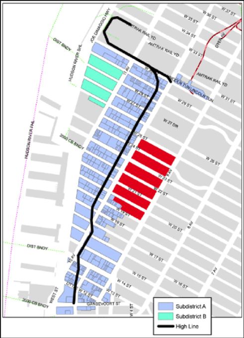 Boundaries Of Planned High Line Park Irmprovement District