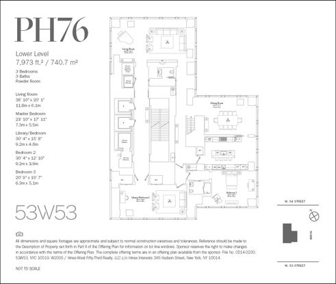 53 West 53rd Street #PH76 floor plan