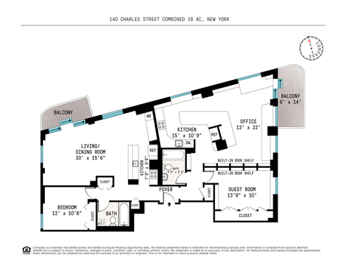 140 Charles Street #19ADE18A18C floor plan