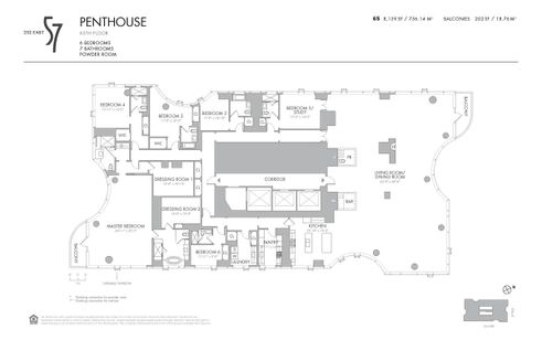 252 East 57th Street penthouse floor plan