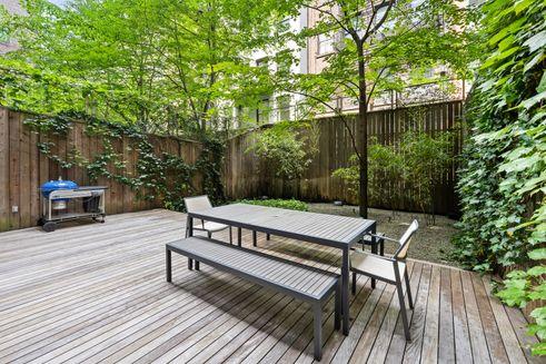 NoHo backyard NYC apartments real estate manhattan