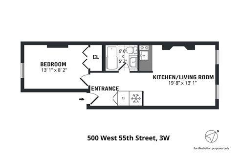 498 West 55th Street #3W floor plan