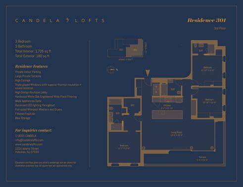 1024 Adams Street #301 floor plan