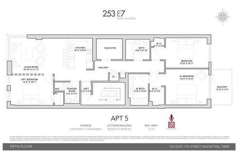 253 East 7th Street #5 floor plan