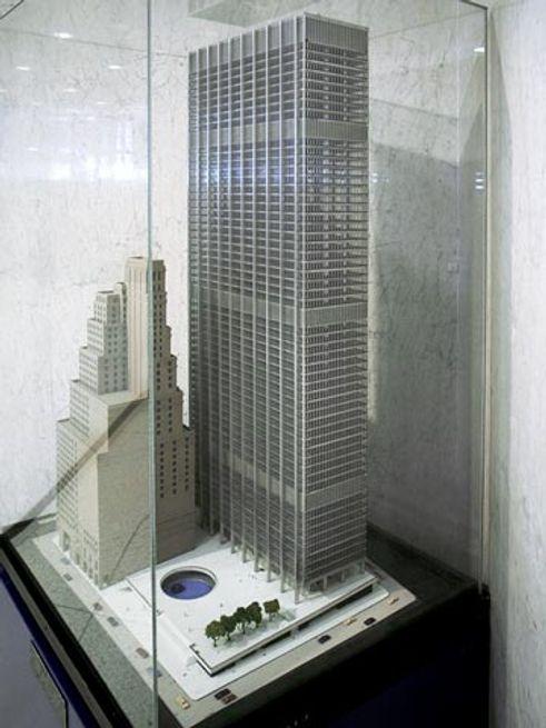 chase manhattan plaza model