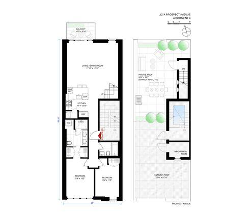 207a Prospect Avenue #4 floor plan