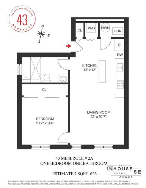 43 Meserole Street #2A floor plan