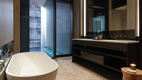 master bath, soori high line interiors, chelsea condos, SCDA Architects, soo k chan