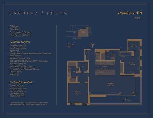 1024 Adams Street #201 floor plan