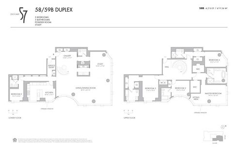 252 East 57th Street #58/59B floor plan