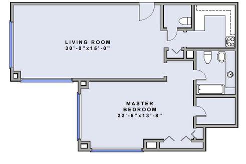 1 Central Park West #54H floor plan