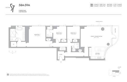 252 East 57th Street #58A floor plan