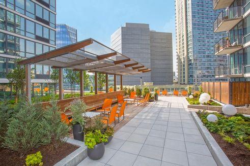 Hayden's landscaped rooftop terrace