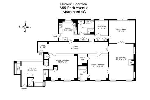 655 Park Avenue #4C floor plan