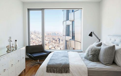 bedroom at 8 spruce street nyc