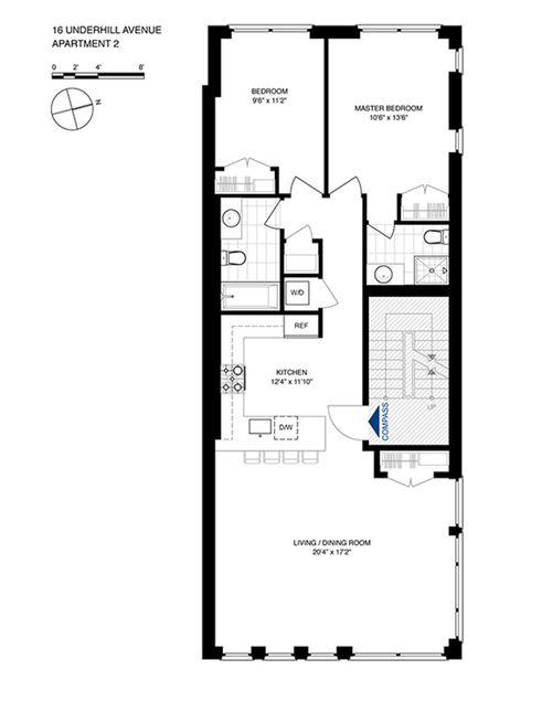 16 Underhill Avenue #2 floor plan